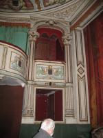 Château de Digoine. Loges du petit théâtre,côté cour.