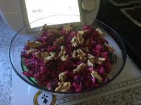Salade originale pommes betterave, comté