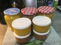 Compotes pomme ananas mangue et pomme framboises