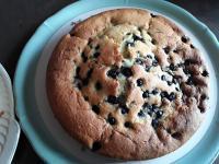 Gâteau vite fait aux myrtilles de Jo