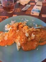 Dos de cavillaud vapeur riz et sauce chorizo