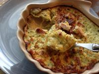 flan courgettes/bacon