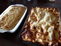 Lasagnes et gratin dauphinois