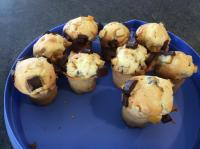 Muffins orange confite pépites chocolat