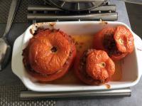 Tomates avec le reste de la farce