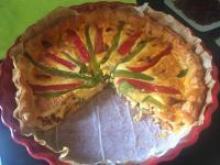 Tarte aux poivrons et chorizo
