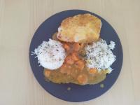 poulet katsu riz/curry réalisé avec le TM31
