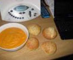 Purée de carotte, lentilles pour enfants