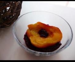 Nectarines au coulis de mûres