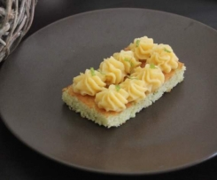 Cupcake / gâteau goût mojito : gâteau rhum et menthe, crème citron vert
