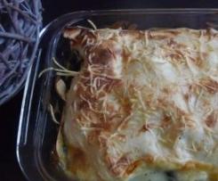 Lasagnes épinards, saumon et chaource