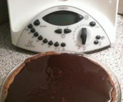 tarte au chocolat tiède