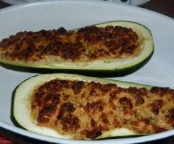 Courgette soufflée à l'aubergine