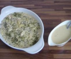 Blanquette d'escaloppes de poulet et sa sauce crème