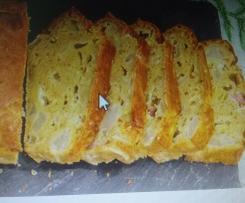 cake roquefort poire lardons