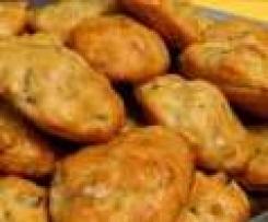 Madeleines roquefort et noix