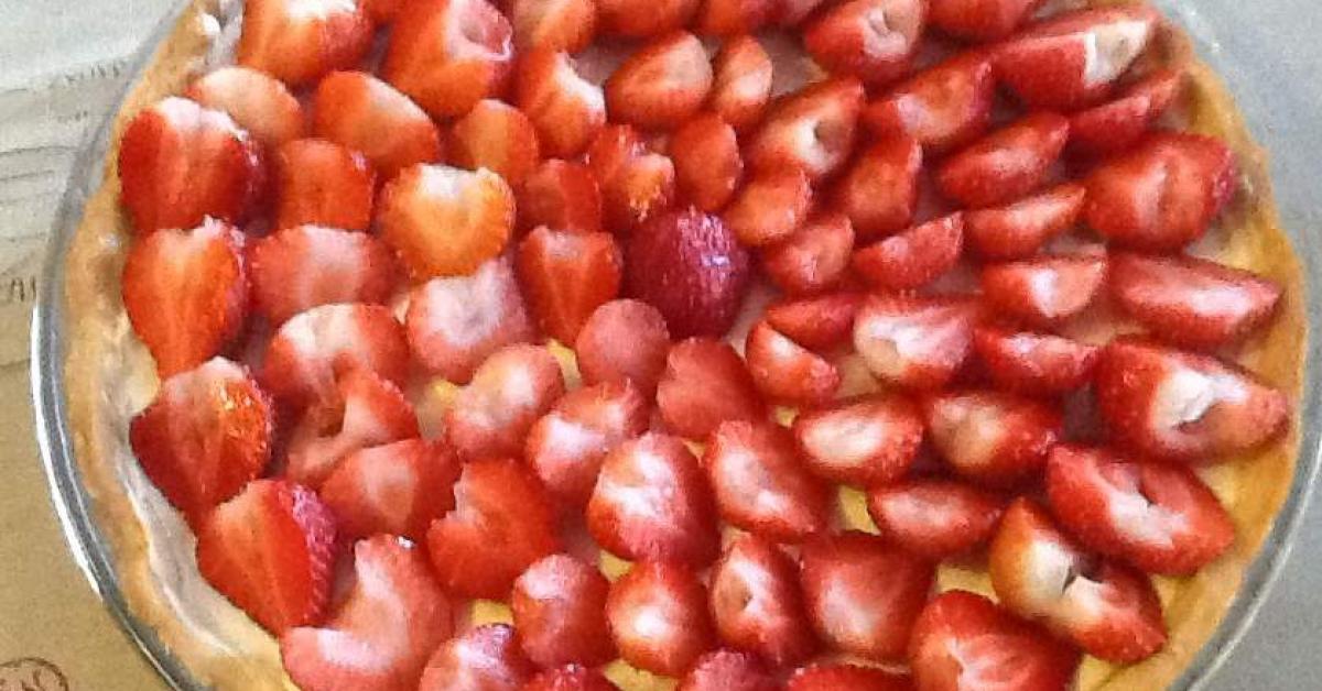 tarte aux fraises fa on ladur e mascarpone par odile 69830 une recette de fan retrouver. Black Bedroom Furniture Sets. Home Design Ideas