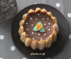 Charlotte aux pommes et nutella façon cheesecake