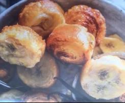 Kouign-amann aux bananes et à la vanille