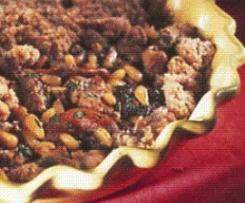 Crumble d'Agneau aux  figues, aux abricots et aux pignons recette adaptée de cuisines et vins de France