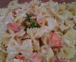 Salade de pâtes au saumon et yaourt