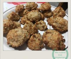 Macarons noix de coco et pralin