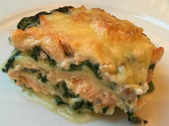 Lasagnes Aux 2 Saumons Epinards Frais Et Comte Par Jdidierk Une