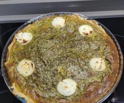 Tarte oignons, champignons, courgettes, chèvre