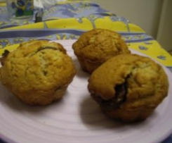 Muffins poire nutella