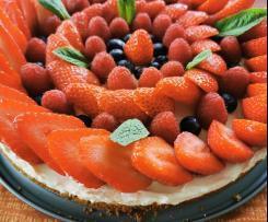 Tarte aux fraises sans cuisson allégée
