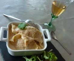 Ravioles sauce au foie gras