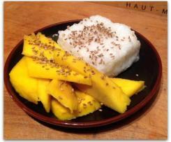 Sticky Rice (riz gluant) à la mangue et au lait de coco