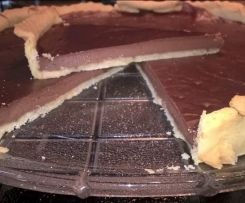Tarte au flan au chocolat