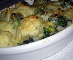 Gratin brocolis ou chou-fleur façon tartiflette