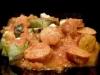 Rougail de saucisses accompagné d'aubergines
