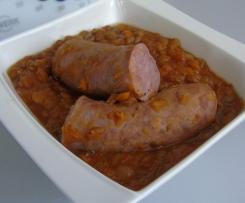 Lentilles Blondes - Saucisses de Toulouse & Chorizo