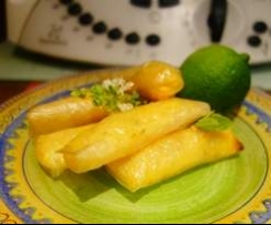 Cigarettes au  green lemon curd-basilic