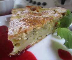 Gâteau-flan sucré aux courgettes