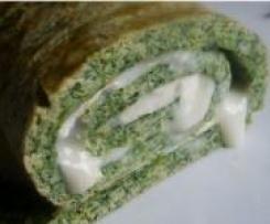 Roulé d'épinard au fromage de chèvre frais