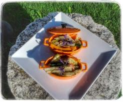 Choux rave et ces petits légumes au lard au thermomix