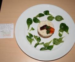 Brandade de Cabillaud sur Tian de Légumes Oubliés et sa Verdurette de Mâche