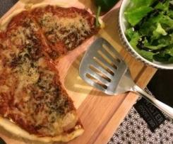 Tarte légère thon, tomate, fromage frais