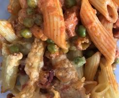 Gratin de pâtes façon Paella