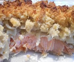 Fenouil au saumon et crumble de parmesan (recette Tupperware)