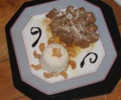 Porc caramel-coco-cajou