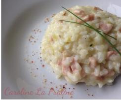 Risotto Courgettes lardons et piment d'Espelette