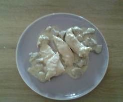 Aiguillettes de poulet crème et champignon