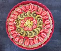 Tarte fraise kiwi crème pistache