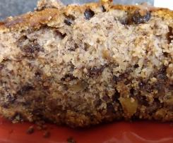 Chocolate chips walnut banana bread