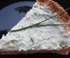 Tarte crème ciboulette et poivron